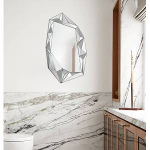 """Ren Wil MT1741 Galerie 42"""" x 24"""" Abstract """"Shattered Glass"""" Modern Wall Mirror Home Decor Mirrors Accent Mirror  - N,A"""