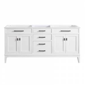 "Avanity MADISON-V72 Madison 72"" Floor-Standing Vanity Cabinet with 4 Soft Close Doors 3 Drawers and 4 Interior Shelves White Bathroom Storage Vanity"