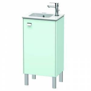 """Duravit BR4400R Brioso 17"""" Single Free Standing Wood Vanity Cabinet Only with Right Hand Hinge - Less Vanity Top Chrome / Light Blue Matte Bathroom"""