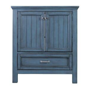 "Foremost BAV3022D Brantley 30"" Single Free Standing Wood Vanity Cabinet Only - Less Vanity Top Harbor Blue Bathroom Storage Vanity Cabinet Only Single"
