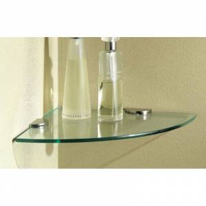 "Ginger 0218C-10TSCL 3/8"" Tempered Replacement Corner Glass Tray from the Sine Collection Bathroom Storage Bathroom Shelf Tray"
