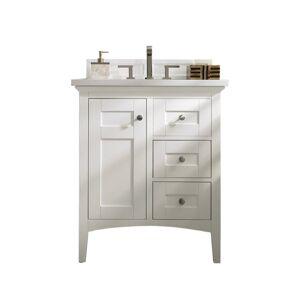 "James Martin Vanities 527-V30-3CSP Palisades 30"" Free Standing Single Basin Vanity Set with Wood Cabinet and Charcoal Soapstone Quartz Vanity Top"