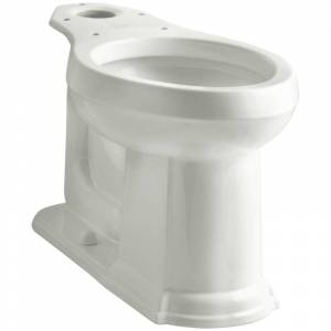 "Kohler K-4397 Devonshire 1.28 GPF Comfort Height Elongated Bowl with 12"" Rough-In Dune Fixture Toilet Bowl Only"