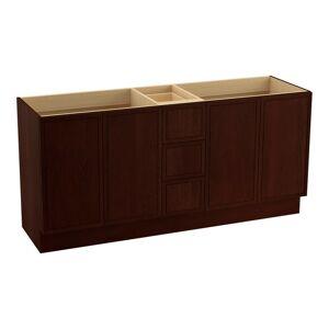 """Kohler K-99512-TKSD Jacquard 72"""" Vanity Cabinet Only with Split Top Drawers - Toe Kick Installation Type Cherry Tweed Bathroom Storage Vanity Cabinet  - Cherry Tweed"""