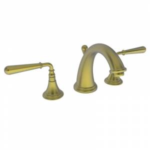 Newport Brass 1740 Bevelle Double Handle Widespread Lavatory Faucet with Metal Lever Handles Satin Bronze (PVD) Faucet Bathroom Sink Faucets Double