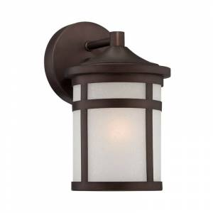 Acclaim Lighting 4714 Visage 1 Light Outdoor Lantern Wall Sconce with Frosted Glass Shade Architectural Bronze Outdoor Lighting Wall Sconces