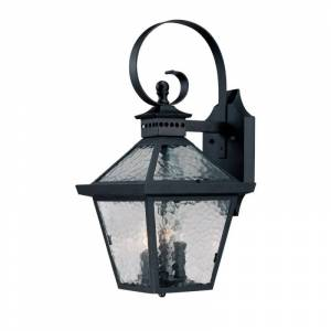 "Acclaim Lighting 7672 Bay Street 3 Light 21"" Height Outdoor Wall Sconce Matte Black Outdoor Lighting Wall Sconces  - Matte Black"