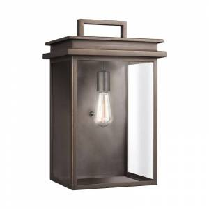 """Feiss OL13603 Glenview Single Light 19"""" Tall Outdoor Wall Sconce Antique Bronze Outdoor Lighting Wall Sconces Outdoor Wall Sconces  - Antique Bronze"""