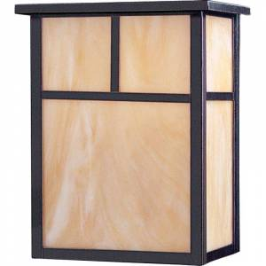 """Maxim 55051 11"""" Tall LED Outdoor Wall Sconce from the Coldwater Collection Burnished / Honey Glass Outdoor Lighting Wall Sconces"""