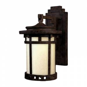 "Maxim 65033MO Santa Barbara Single Light 13"" Tall LED Outdoor Wall Sconce Sienna Outdoor Lighting Wall Sconces"