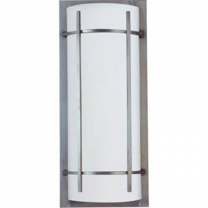 "Maxim 65216WT Luna 2 Light 21"" Tall LED Outdoor Wall Sconce Brushed Metal Outdoor Lighting Wall Sconces  - Brushed Metal"