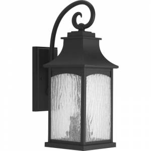 """Progress Lighting P5754 Maison 20"""" Tall 2 Light Outdoor Wall Sconce with Water Glass Shade Black Outdoor Lighting Wall Sconces Outdoor Wall Sconces  - Black"""
