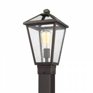 "Z-Lite 579PHMS-536P Talbot 110"" Tall Outdoor Single Head Post Light with Square Base Rubbed Bronze Outdoor Lighting Post Lights Single Head Post  - Rubbed Bronze"