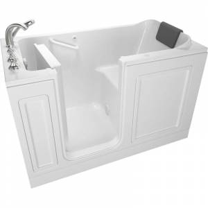 """American Standard 3260.219.AL Luxury 59-1/2"""" Walk-In Air Bathtub with Left-Hand Drain Comfort Jets and Quick Drain Pump - Roman Tub Filler and"""