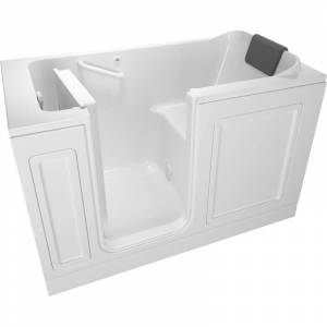 "American Standard 3260.219.SL Luxury 59-1/2"" Walk-In Soaking Bathtub with Left-Hand Drain Comfort Jets and Quick Drain Pump - Roman Tub Filler and"