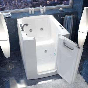 """Avano AV3238RH Walk-In Tubs 37-1/4"""" Acrylic Whirlpool Bathtub for Alcove Installations with Right Drain Roman Tub Faucet and Handshower White Walk In"""