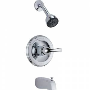 Delta T13420-SOS Classic Monitor 13 Series Single Function Pressure Balanced Tub Chrome Faucet Tub and Shower Single Handle