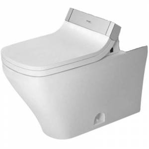 Duravit 216051-DUAL DuraStyle Elongated Toilet Bowl Only - Less Seat White Fixture Toilet Bowl Only