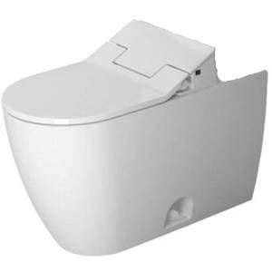 Duravit 217151-DUAL ME by Starck Elongated Chair Height Toilet Bowl Only - Less Seat White with WonderGliss Fixture Toilet Bowl Only