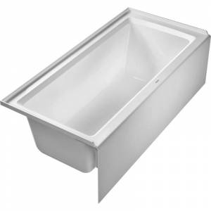 "Duravit 700408-L-19TALL Architec 66"" Alcove Acrylic Soaking Tub with Left Drain and Overflow White Tub Soaking Alcove"