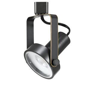Cal Lighting HT-120 Single Light 17 Watt LED Track Head with Clear Glass Disk Shade Dark Bronze Track Lighting Heads Track Heads  - Dark Bronze