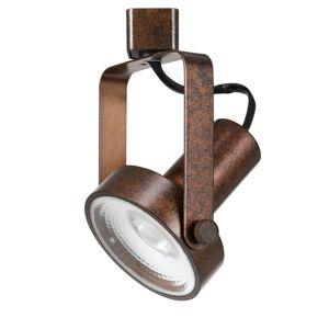Cal Lighting HT-120 Single Light 17 Watt LED Track Head with Clear Glass Disk Shade Rust Track Lighting Heads Track Heads  - Rust