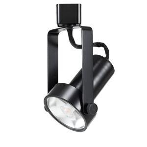 Cal Lighting HT-121 Single Light 12 Watt LED Track Head with Clear Glass Disk Shade Black Track Lighting Heads Track Heads
