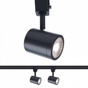 """WAC Lighting H-8010-30-2 Pack of (2) Charge H-Track 6"""" Tall 3000K LED Track Head Black Track Lighting Heads  - Black"""
