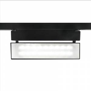 """WAC Lighting WHK-LED42W-40 LEDme Low Voltage 13.875"""" Wide Energy Star 4000K High Output LED Wall Washer Track Head for W-Track Systems - 277 Volt  - Black"""