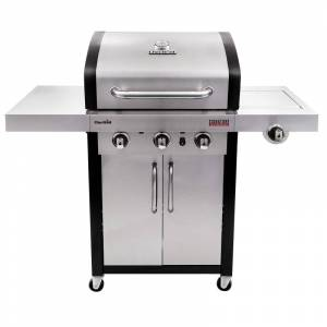 Char-Broil 463367016 38500 BTU 52 Inch Wide Liquid Propane Free Standing Grill with Electronic Ignition and Natural Gas Capability Stainless Steel  - Stainless Steel