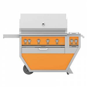 Hestan GMBR42CX2-LP 148000 BTU 42 Inch Wide Liquid Propane Free Standing Grill with Trellis Burner System Sear Burners and Rotisserie from the