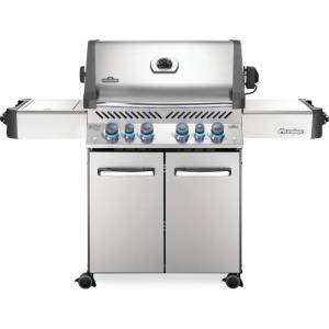 Napoleon P500RSIBN-3 80000 BTU 67 Inch Wide Natural Gas Free Standing Grill with Instant Jetfire™ Ignition from the Prestige® Series Stainless Steel  - Stainless Steel