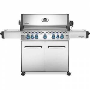 Napoleon P665RSIBN 92000 BTU 75 Inch Wide Natural Gas Free Standing Grill with Instant Jetfire™ Ignition from the Prestige® Series Stainless Steel  - Stainless Steel