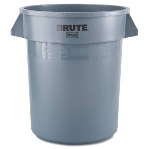 Rubbermaid Commercial RCP2620GRAY Brute Round Container 20 Gallon Gray Janitorial Supplies Waste Receptacles Waste Receptacles  - Gray