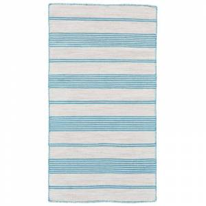 Delacora FZ-GLNVWPS--REC-8X11 8' x 11' Polyester Hand Woven Striped Indoor/Outdoor Rectangular Area Rug From the Glennview Pass Collection Beachcomber  - Beachcomber Blue