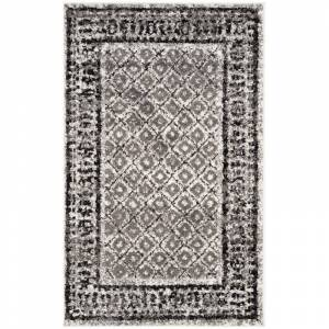 Safavieh ADR110-24 Adirondack 3' X 4' Rectangle Synthetic Power Loomed Contemporary Area Rug Ivory / Silver Home Decor Rugs Throw Rugs