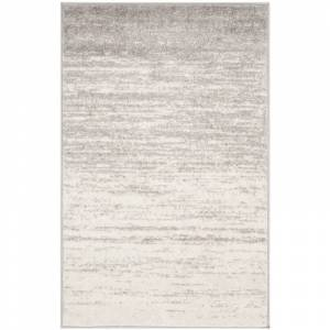 Safavieh ADR113-9 Adirondack 9' X 12' Rectangle Synthetic Power Loomed Contemporary Area Rug Ivory / Silver Home Decor Rugs Area Rugs  - Ivory,Silver