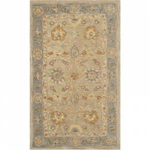 Safavieh AN561-3 Anatolia 3' x 5' Wool Hand Tufted Traditional Area Rug Taupe / Grey Home Decor Rugs Area Rugs  - Taupe,Grey