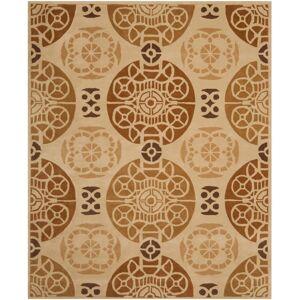 Safavieh CPR353-8 Capri 8' x 10' Rectangle Wool Hand Tufted Geometric Area Rug Gold / Multi Home Decor Rugs Area Rugs