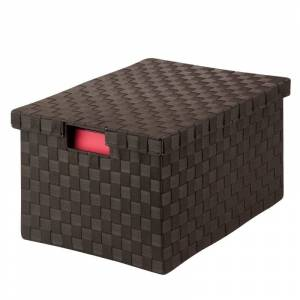 Honey-Can-Do OFC-03709 17-1/2 Inch Long Woven File Box with Lid Espresso Storage and Organization Office Organizers File Organizers  - Espresso