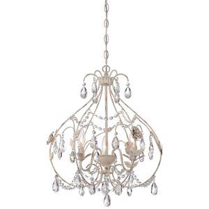 "Minka Lavery 3154-648 3 Light 17-3/4"" Wide Single Tier Chandelier Provencal Blanc Indoor Lighting Chandeliers"