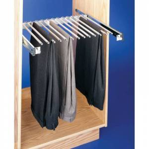 "Rev-A-Shelf PSC-2414 PSC Series 14"" Depth Pull Out Rack for 13 Pairs of Pants Chrome Storage and Organization Closet Organizers Clothes Racks  - Chrome"
