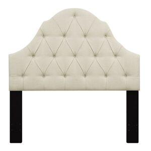 """Delacora HM-DS-D015-250 60-1/8"""" Wide Fabric Full/Queen Headboard Beige Indoor Furniture Bed Accessories Headboard"""