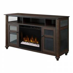 Dimplex GDS23G8-1904GB Xavier 57 Inch Wide Media Console with 5118 BTU Electric Fireplace Warm Grainery Brown Fireplace Media Console Electric  - Warm Grainery Brown