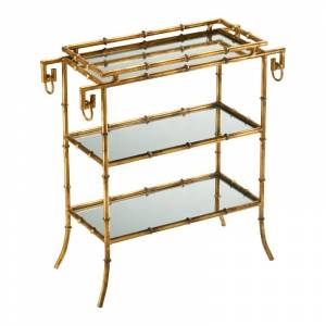 Cyan Design 04208 Bamboo Tray Table Gold Indoor Furniture Tables Accent  - Gold