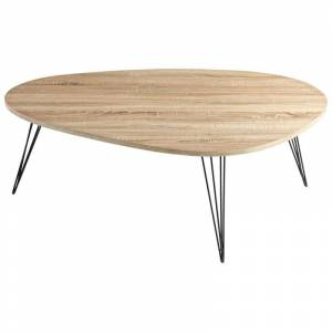 Cyan Design Lunar Landing Coffee Table Lunar Landing 44 Inch Long Wood and Iron Coffee Table Oak Indoor Furniture Tables Coffee