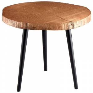 Cyan Design Timber Side Table Timber 27.25 Inch Diameter Wood Side Table Copper Indoor Furniture Tables Accent  - Copper