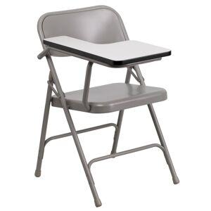 Delacora FF-HF-309AST-RT-GG 18-1/2 Inch Wide Metal Framed Wood Right Handed Fold-able Classroom Desk Beige Indoor Furniture Desks Classroom  - Beige