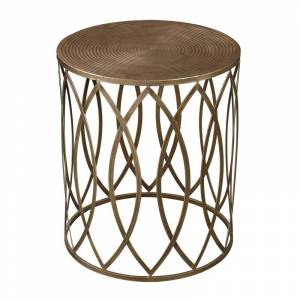 Elk Home 138-009 Sutton Accent Table in Gold Leaf Gold Paint Indoor Furniture Tables Accent