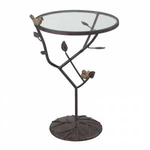 Elk Home 138-054 Kimberly Birds On A Branch Accent Table Bronze Indoor Furniture Tables Accent